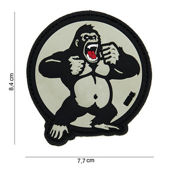 Patch King Kong Gorilla, pvc met klittenband art no 14025