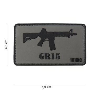 Patch GR 15, pvc met klittenband art no 10033