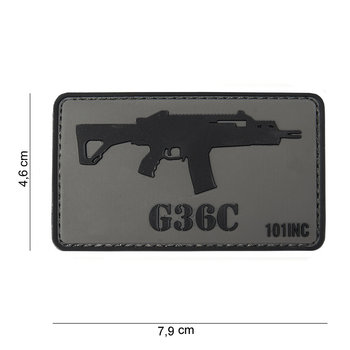 Patch G 36 C pvc met klittenband art no 10034