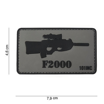 Patch F 2000 pvc met klittenband art no 10041