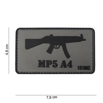 Patch MP5 A4 pvc met klittenband art no 10031