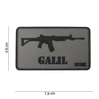 Patch Galil pvc met klittenband art no 10035