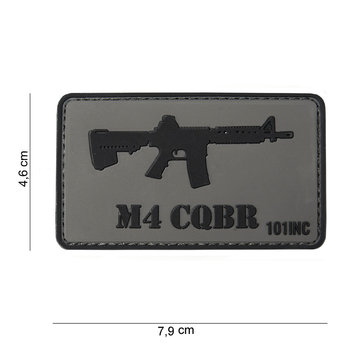 Patch M4 CQBR pvc met klittenband art no 10030