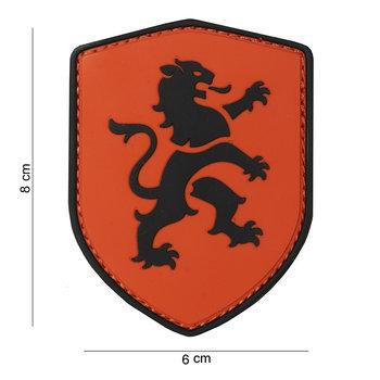 Patch Hollandse Leeuw Oranje schild pvc met klittenband art no 10026