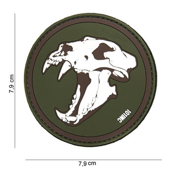 Patch Sabertooth pvc met klittenband art no 14026