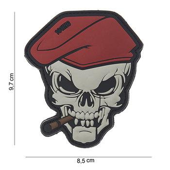 Patch Skull doodshoofd sigaar pvc met klittenband art no 10121