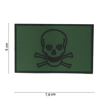 Patch skull and bones doodshoofd pvc met klittenband art no 10070