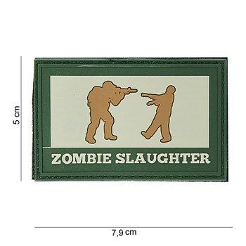 Patch Zombie slaughter groen bruin pvc met klittenband art no 10046