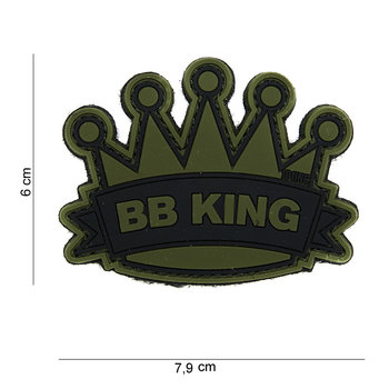 Patch BB king pvc met klittenband art no 14033