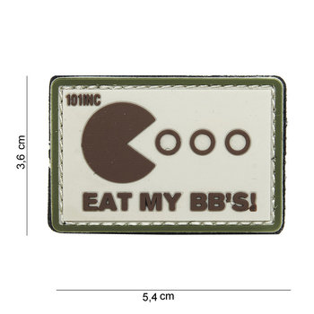 Patch Pacman eat my bb's pvc met klittenband art no 14065