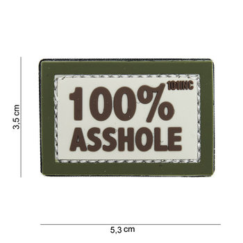Patch 100% asshole pvc met klittenband art no 14077
