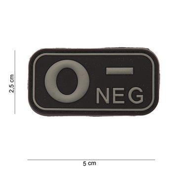 Patch Bloedgroep O negatief art no #1117, PVC met klittenband