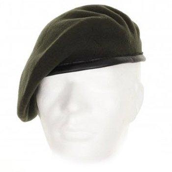 Baret bruin / groen gebruikt uit het leger