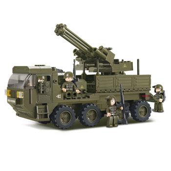 Pantser voertuig heavy transport geschut Sluban leger speelgoed B0302