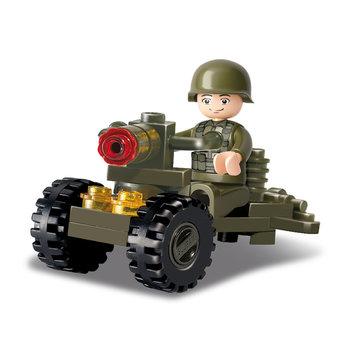 soldaat op geschut Sluban leger speelgoed B0118