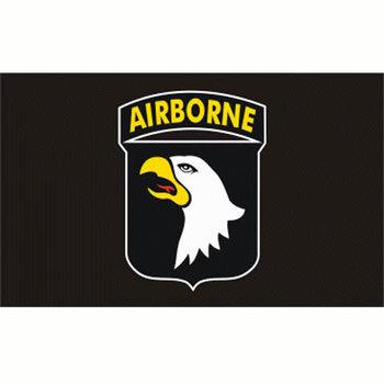 Airborne 101 division vlag zwart