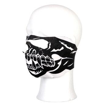 Masker doods hoofd doodskop skull half grote mond
