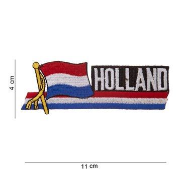 Holland wapperende vlag embleem patch van stof art. nr. 1040