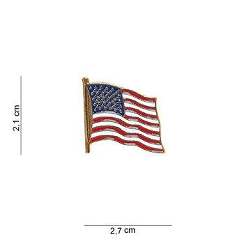 Embleem Amerikaanse vlag USA met pin 7073