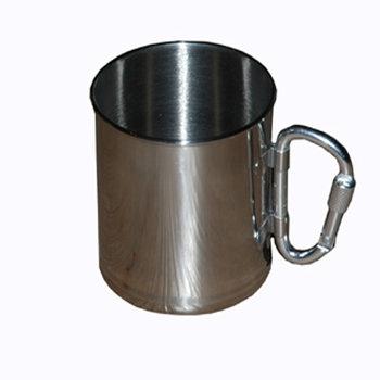drink beker / cup / mok RVS lichtgewicht met karabijn haak
