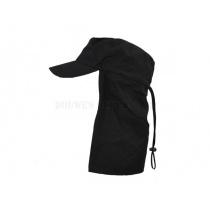 Veldpet leger met nekbescherming kleur zwart