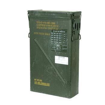 MUNITIEKIST  6B 3 CART. 81MM HE M821A2 Share 35 X 14 X 57 cm