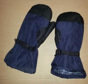 Heerlijk warme leger wanten / handschoenen leger nieuw blauw met zwart