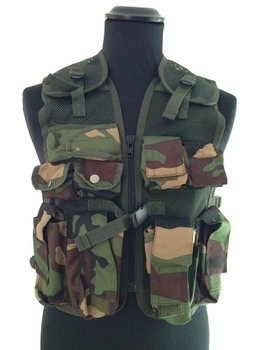 Kinder Tactical Vest kids leger camouflage