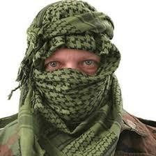 Shemag / keffiyeh, Arabische PLO sjaal groen