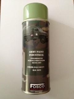Spuitbus leger verf pale green