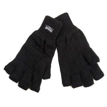 Handschoenen zonder vingers zwart thinsulate, polsmofjes