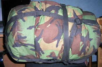 Compressie zak slaapzak, opberghoes, compression bag m90 gebruikt