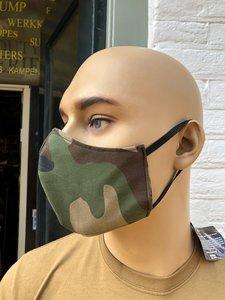 Mondkapje / gezichtsmasker in camouflage 100% katoen