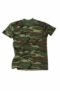 Kinder T-shirt leger camouflage