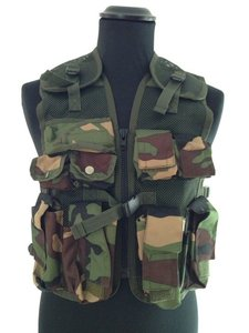 Kinder Tactical Vest kids leger camouflage