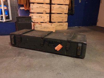houten leger kist groot 120,5 cm x 43,5 cm x 25 cm
