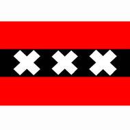 Amsterdamse vlag zwart rood wit