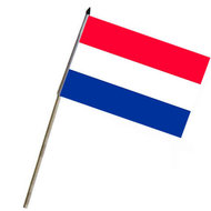 vlaggetje op stok nederland, hollandse vlag