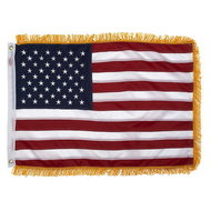 Geborduurde Vlag USA / Amerikaanse vlag met gouden franje rand 61cm x 91cm