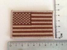 Embleem Patch Amerikaanse vlag USA stof in desert kleuren