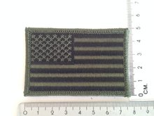 Embleem Patch Amerikaanse vlag USA stof in camouflage groen