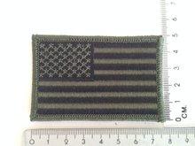 Embleem Patch Amerikaanse vlag USA stof in camouflage groen