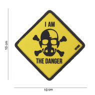 Patch Breaking Bad Geel I am the danger, pvc met klittenband