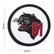 51 Panter embleem patch van stof art. nr. 5041