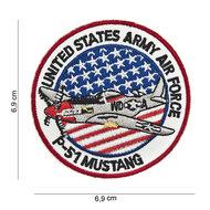 Mustang P-51 embleem patch van stof art. nr. 3013