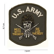 US Army mess with the best patch embleem van stof art. nr. 3055