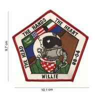 Willie 88-04 patch embleem van stof art. nr. 4019