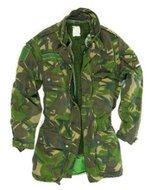 Parka camouflage leger jas gebruikt uit het Nederlandse leger