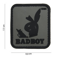 Patch bad boy grijs zwart