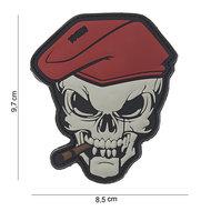 Patch Skull doodshoofd sigaar pvc met klittenband